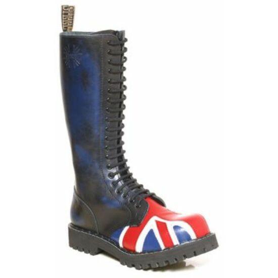 Steel Boots bakancs, 20 lyukú, UK zászló színben