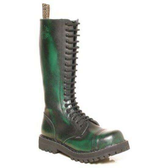 Steel Boots bakancs, 20 lyukú, zöld színben
