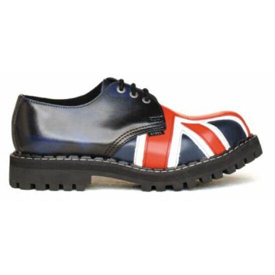 Steel Boots bakancs, 3 lyukú, UK zászló színben