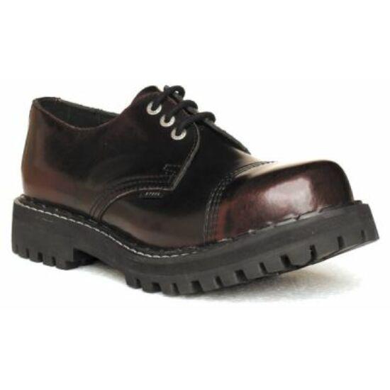 Steel Boots bakancs, 3 lyukú, bordó színben