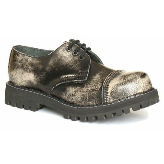 Steel Boots bakancs, 3 lyukú, fehér színben