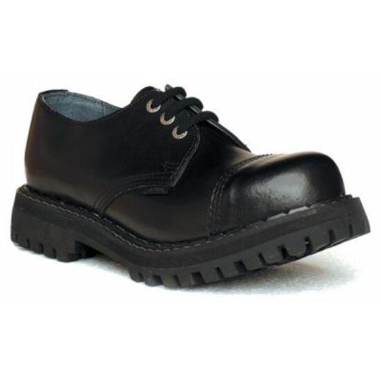 Steel Boots bakancs, 3 lyukú, fekete színben