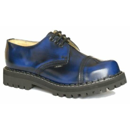Steel Boots bakancs, 3 lyukú, kék színben