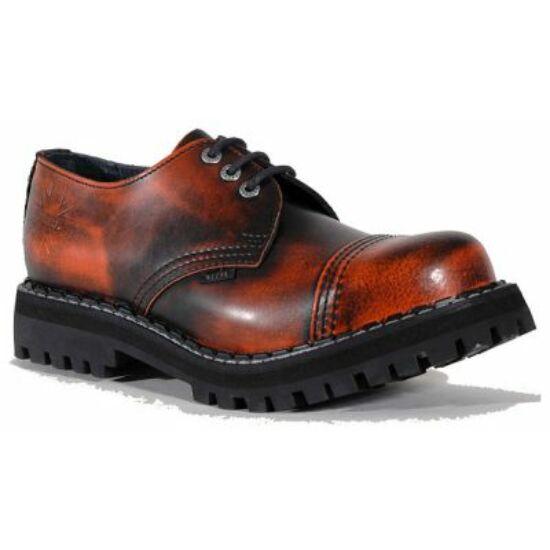 Steel Boots bakancs, 3 lyukú, narancs színben