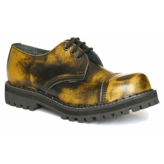 Steel Boots bakancs, 3 lyukú, sárga színben