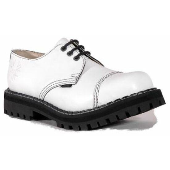 Steel Boots bakancs, 3 lyukú, tiszta fehér színben