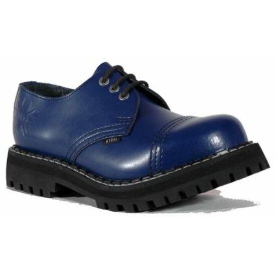 Steel Boots bakancs, 3 lyukú, tiszta kék színben