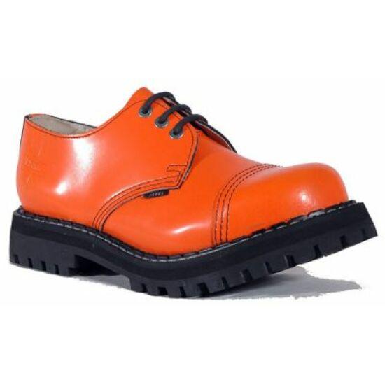 Steel Boots bakancs, 3 lyukú, tiszta narancs színben