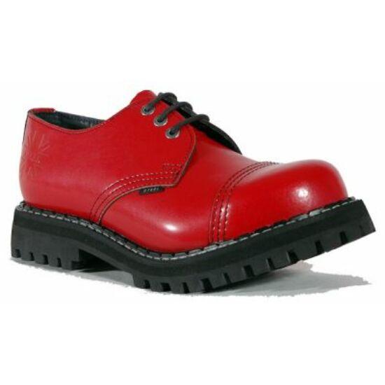 Steel Boots bakancs, 3 lyukú, tiszta piros színben