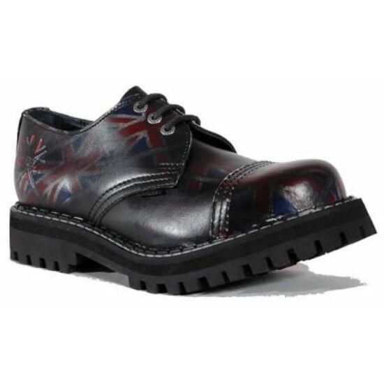 Steel Boots bakancs, 3 lyukú, UK fekete színben