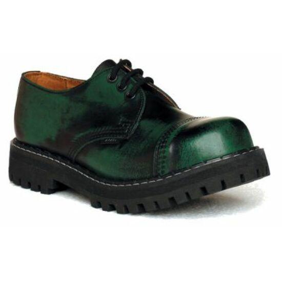 Steel Boots bakancs, 3 lyukú, zöld színben