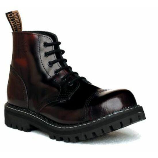 Steel Boots bakancs, 6 lyukú, bordó színben