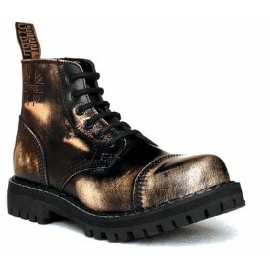 Steel Boots bakancs, 6 lyukú, fehér színben