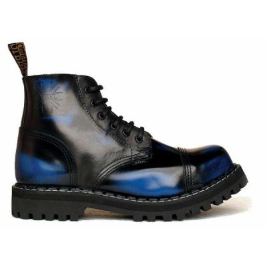 Steel Boots bakancs, 6 lyukú, kék színben