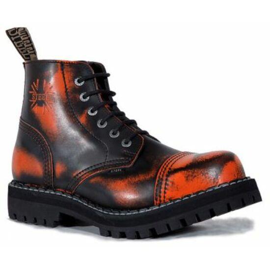 Steel Boots bakancs, 6 lyukú, narancs színben
