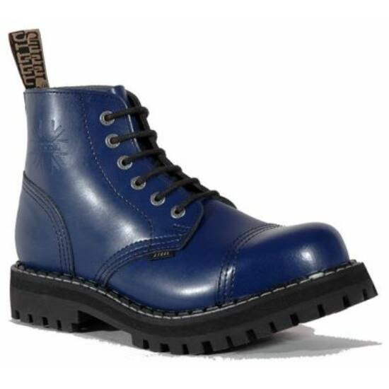 Steel Boots bakancs, 6 lyukú, tiszta kék színben