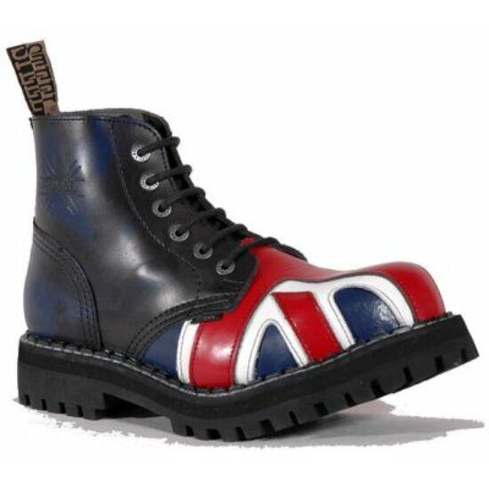 Steel Boots bakancs, 6 lyukú, UK zászló színben