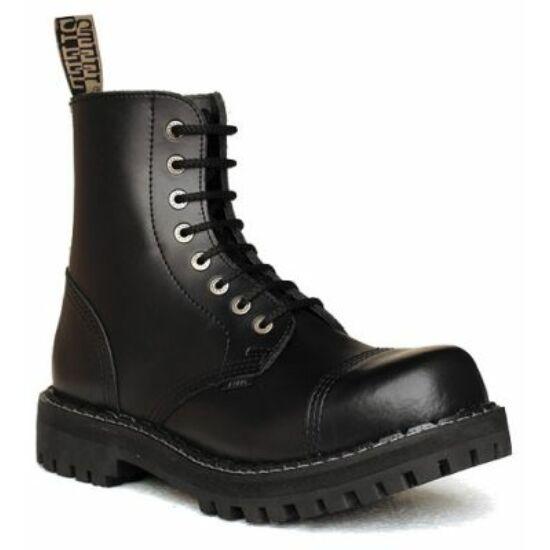 Steel Boots bakancs, 8 lyukú, fekete színben