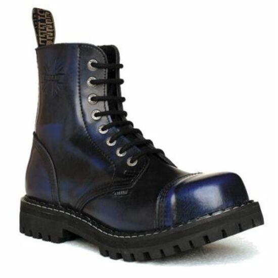 Steel Boots bakancs, 8 lyukú, kék színben