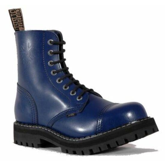 Steel Boots bakancs, 8 lyukú, tiszta kék színben