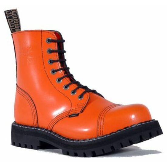 Steel Boots bakancs, 8 lyukú, tiszta narancs színben