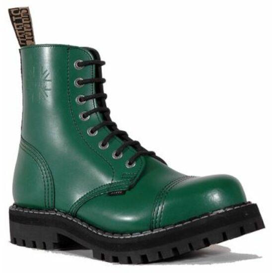 Steel Boots bakancs, 8 lyukú, tiszta zöld színben