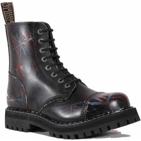 Steel Boots bakancs, 8 lyukú, UK fekete színben