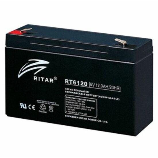 Ritar RT6120 zselés akkumulátor 12,0Ah / 6V